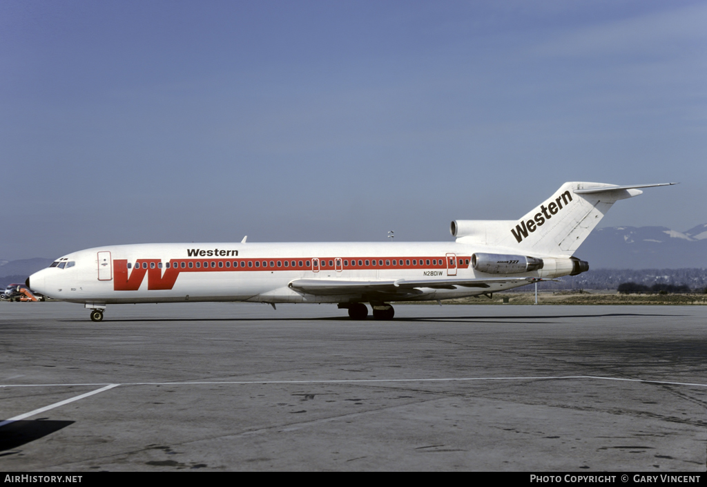 Aircraft Photo of N2801W | Boeing 727-247 | Western Airlines | AirHistory.net #54991