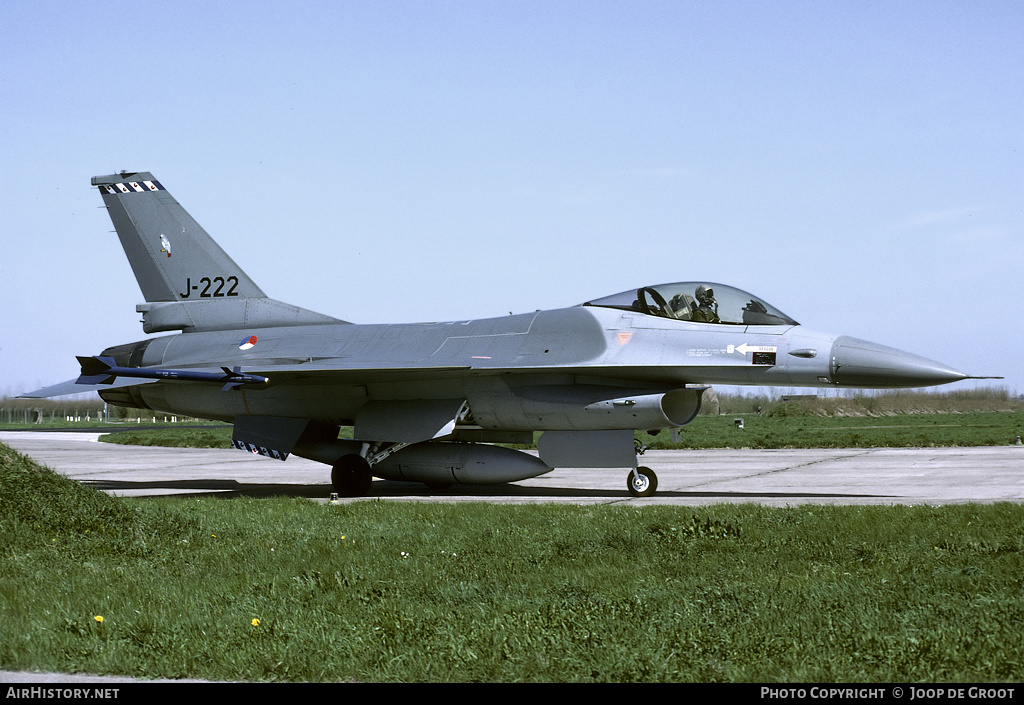 Aircraft Photo of J-222 | General Dynamics F-16A Fighting Falcon | Netherlands - Air Force | AirHistory.net #55096