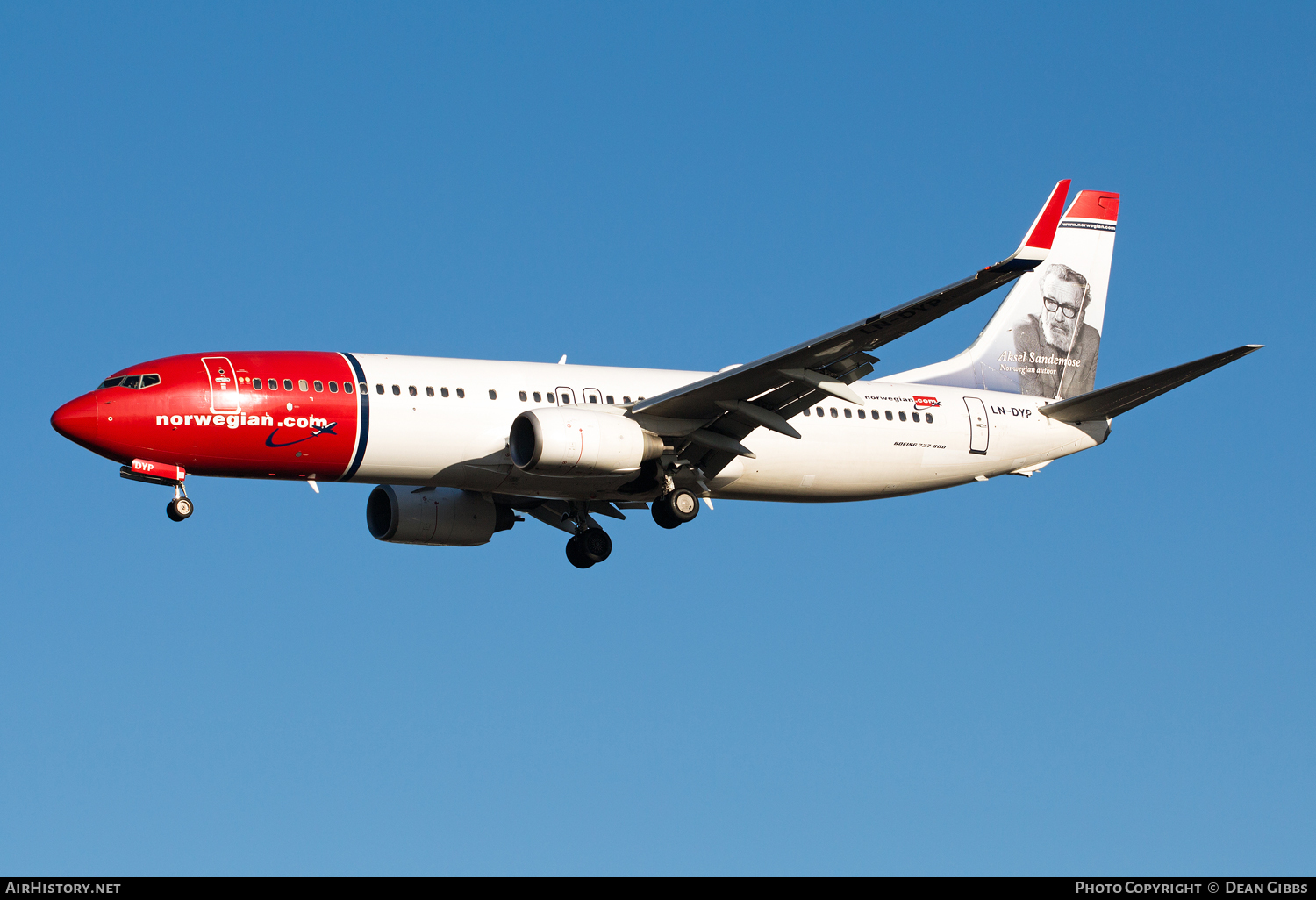 Aircraft Photo of LN-DYP | Boeing 737-8JP | Norwegian Air Shuttle | AirHistory.net #55458
