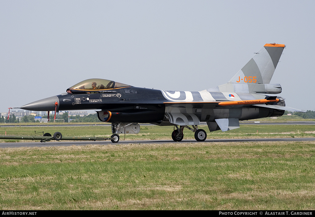 Aircraft Photo of J-055 | General Dynamics F-16AM Fighting Falcon | Netherlands - Air Force | AirHistory.net #56086