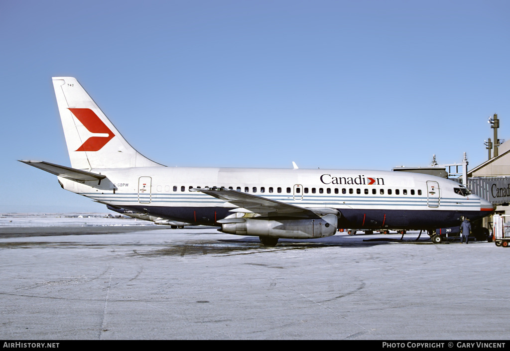 Aircraft Photo of C-GBPW | Boeing 737-275/Adv | Canadian Airlines | AirHistory.net #56087