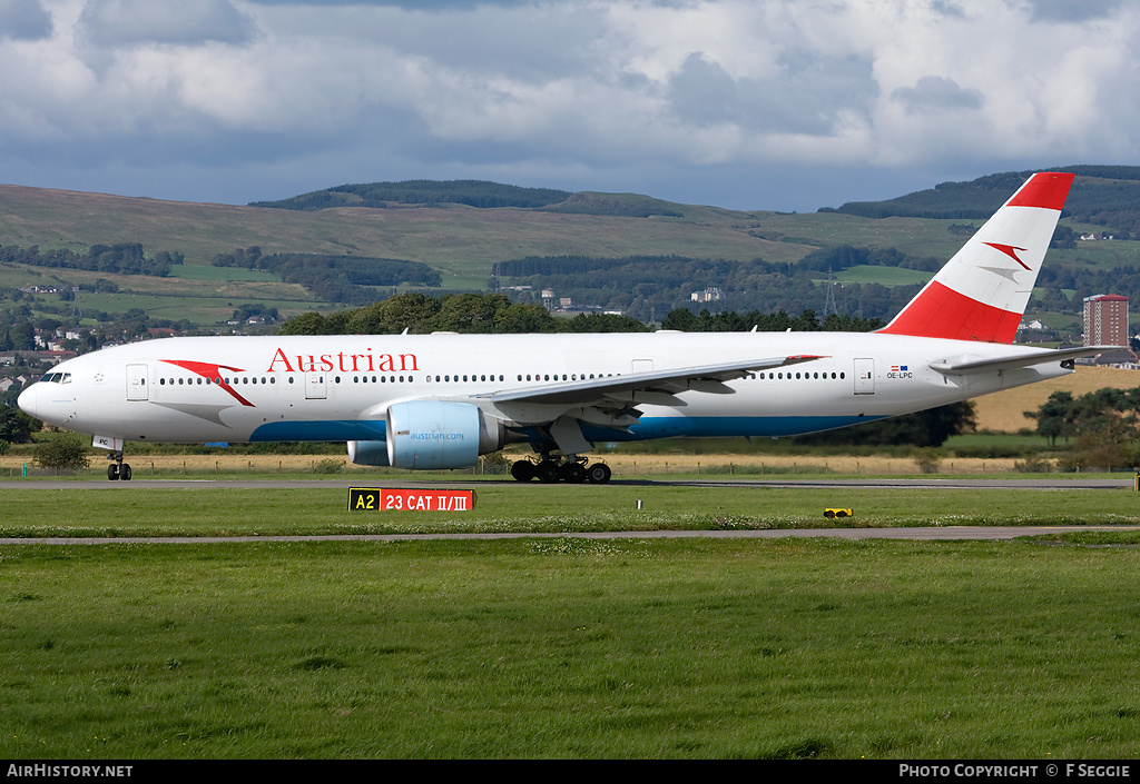 Aircraft Photo of OE-LPC | Boeing 777-2Z9/ER | Austrian Airlines | AirHistory.net #56479