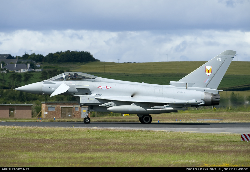 Aircraft Photo of ZK348 | Eurofighter EF-2000 Typhoon FGR4 | UK - Air Force | AirHistory.net #56760