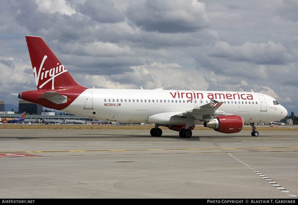Aircraft Photo of N638VA | Airbus A320-214 | Virgin America | AirHistory.net #57132
