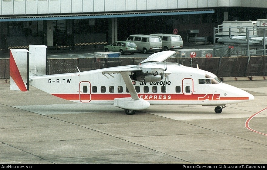 Aircraft Photo of G-BITW | Short 330-200 | Air Europe Express | AirHistory.net #57203