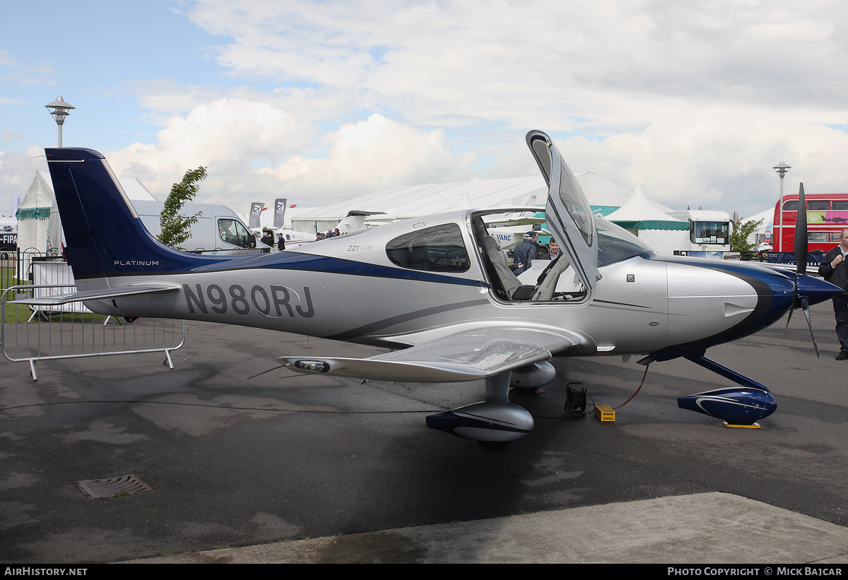 Aircraft Photo of N980RJ | Cirrus SR-22T G5-GTS Platinum | AirHistory.net #57592