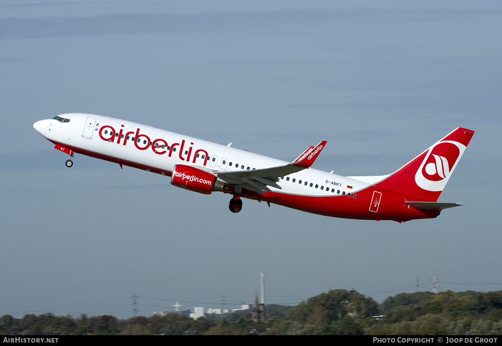 Aircraft Photo of D-ABKT | Boeing 737-86J | Air Berlin | AirHistory.net #57814