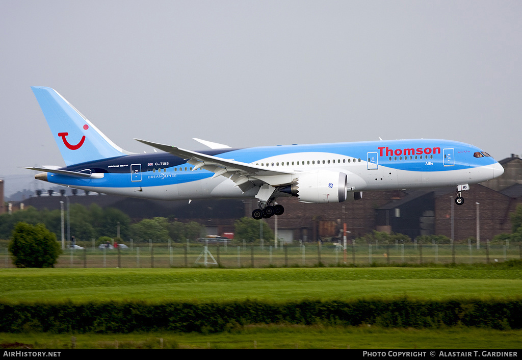 Aircraft Photo of G-TUIB | Boeing 787-8 Dreamliner | Thomson Airways | AirHistory.net #57830