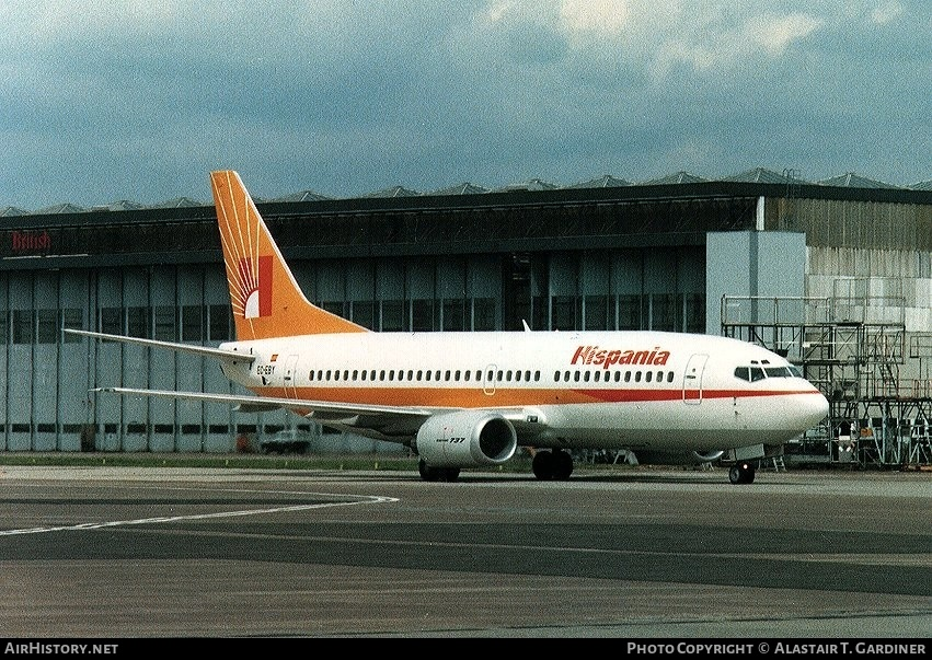 Aircraft Photo of EC-EBY | Boeing 737-3Y0 | Hispania | AirHistory.net #57913