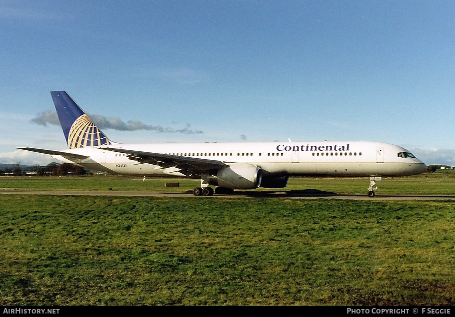Aircraft Photo of N34131 | Boeing 757-224 | Continental Airlines | AirHistory.net #58234