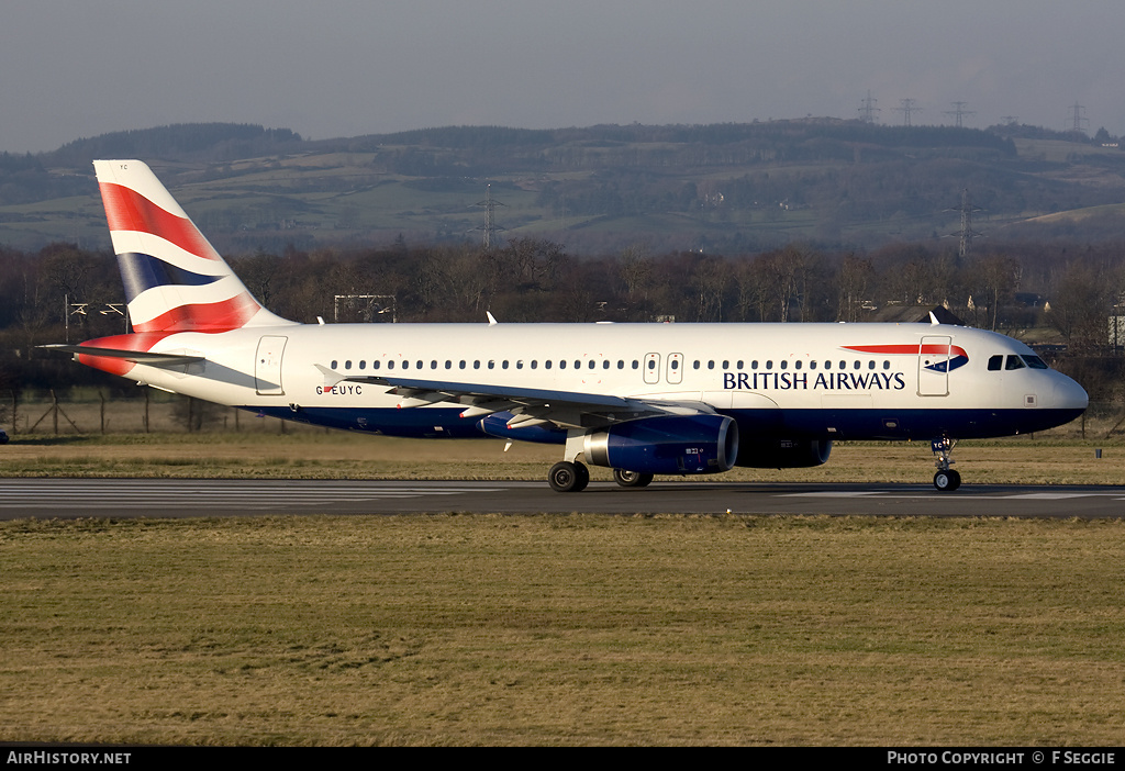 Aircraft Photo of G-EUYC | Airbus A320-232 | British Airways | AirHistory.net #58440