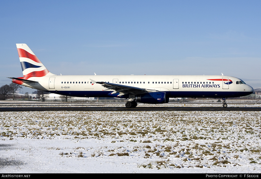 Aircraft Photo of G-EUXI | Airbus A321-231 | British Airways | AirHistory.net #59325