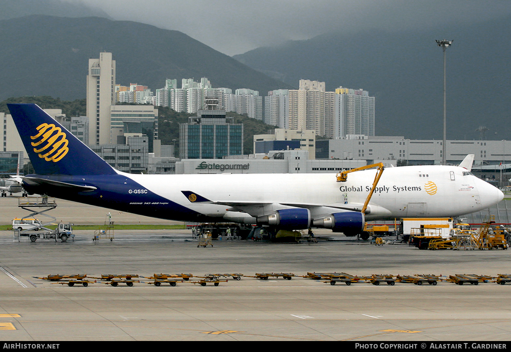 Aircraft Photo of G-GSSC | Boeing 747-47UF/SCD | Global Supply Systems | AirHistory.net #59597