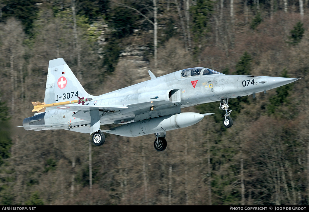 Aircraft Photo of J-3074 | Northrop F-5E Tiger II | Switzerland - Air Force | AirHistory.net #59708