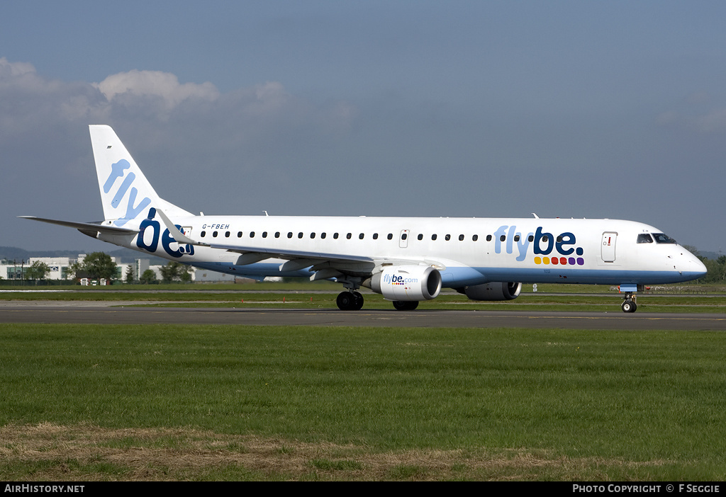 Aircraft Photo of G-FBEH | Embraer 195LR (ERJ-190-200LR) | Flybe | AirHistory.net #60030