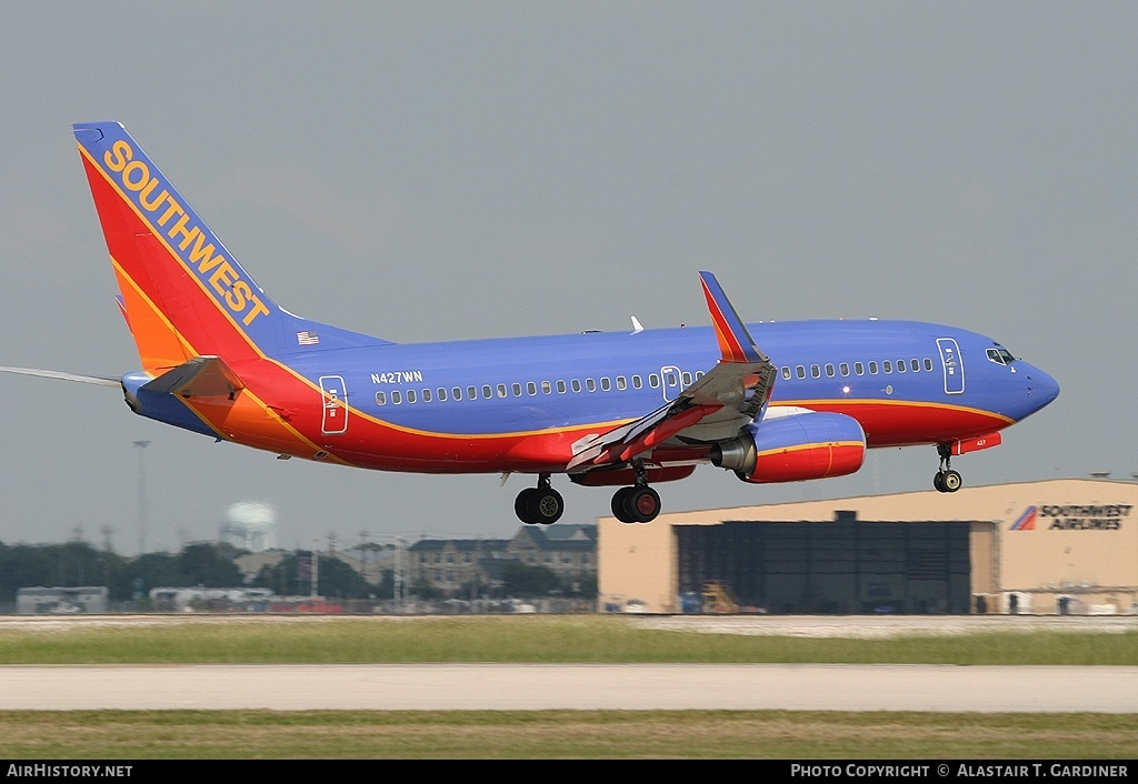 Aircraft Photo of N427WN | Boeing 737-7H4 | Southwest Airlines | AirHistory.net #60370