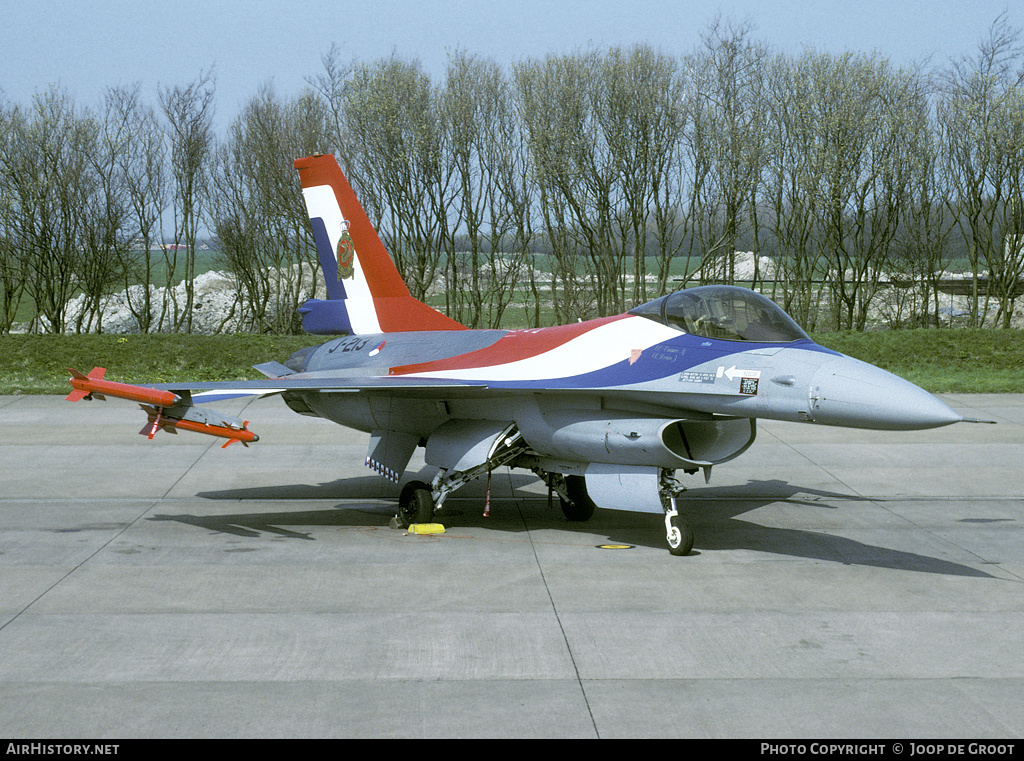 Aircraft Photo of J-213 | General Dynamics F-16A Fighting Falcon | Netherlands - Air Force | AirHistory.net