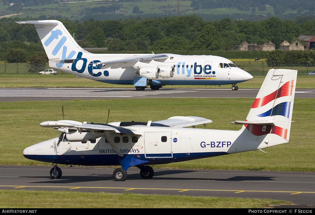 Aircraft Photo Of G Bzfp De Havilland Canada Dhc 6 300 Twin Otter British Airways Airhistory Net 71023