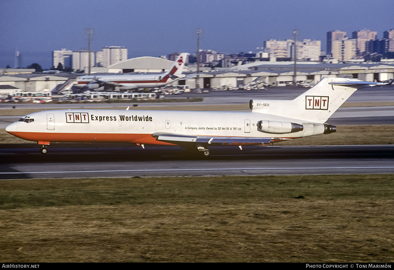Aircraft Photo of OY-SEU | Boeing 727-243/Adv(F) | TNT Airways | AirHistory.net #75378