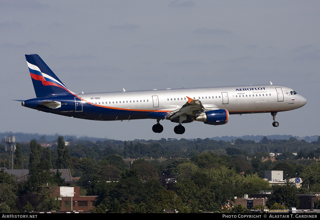 Aircraft Photo of VP-BQS | Airbus A321-211 | Aeroflot - Russian Airlines | AirHistory.net #75544
