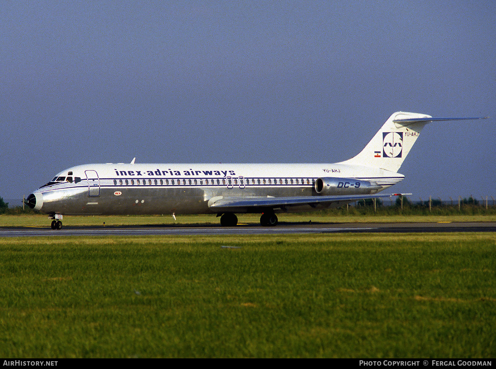 Aircraft Photo of YU-AHJ | McDonnell Douglas DC-9-32 | Inex-Adria Airways | AirHistory.net #75941