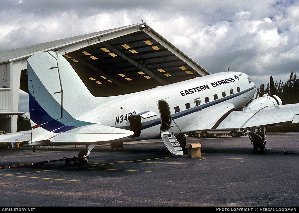 Aircraft Photo of N34PB | Douglas DC-3A | Eastern Express | AirHistory.net #76008