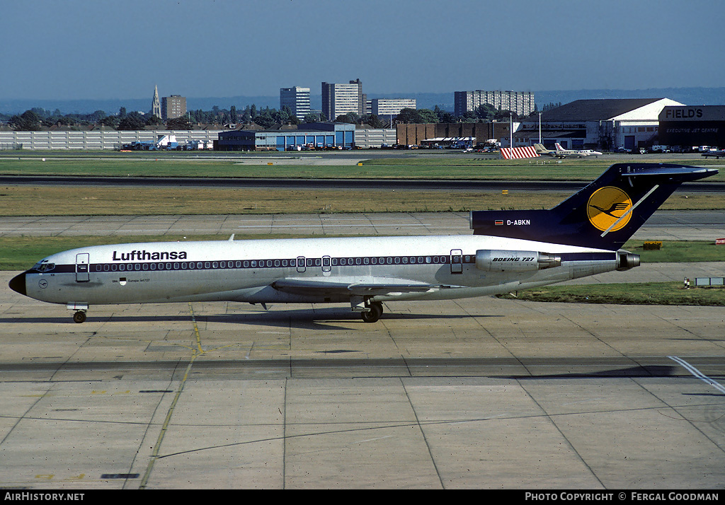 Aircraft Photo of D-ABKN | Boeing 727-230/Adv | Lufthansa | AirHistory.net #76313