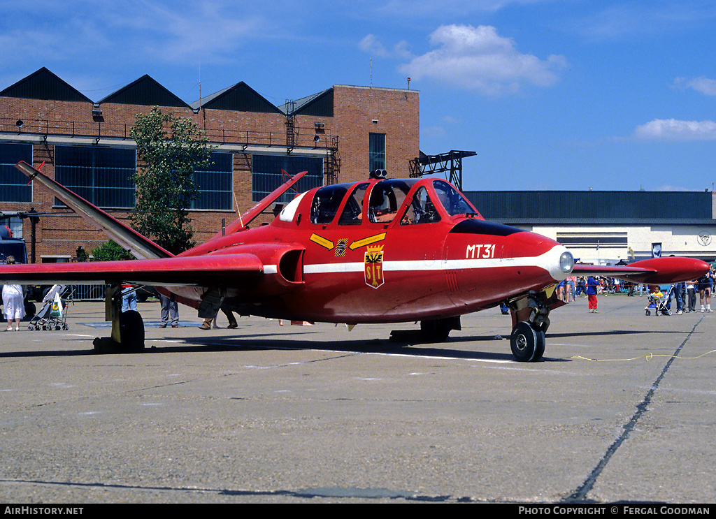 Aircraft Photo of MT31 | Fouga CM-170R Magister | Belgium - Air Force | AirHistory.net #76673