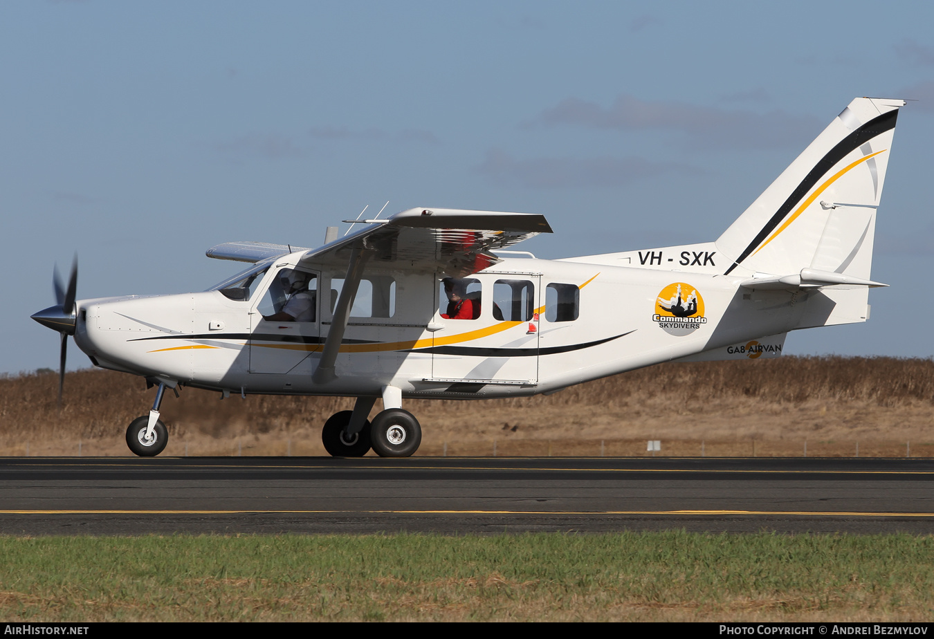 Aircraft Photo of VH-SXK | Gippsland GA-8-TC320 Airvan | Commando Skydivers | AirHistory.net #76768