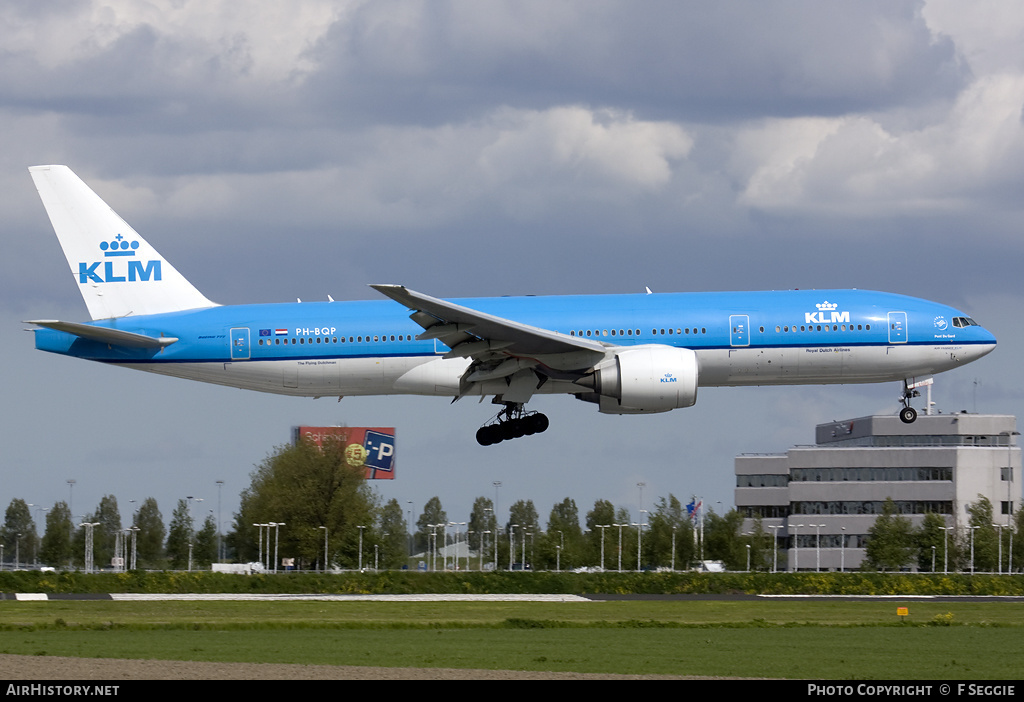 Aircraft Photo of PH-BQP | Boeing 777-206/ER | KLM - Royal Dutch Airlines | AirHistory.net #76822