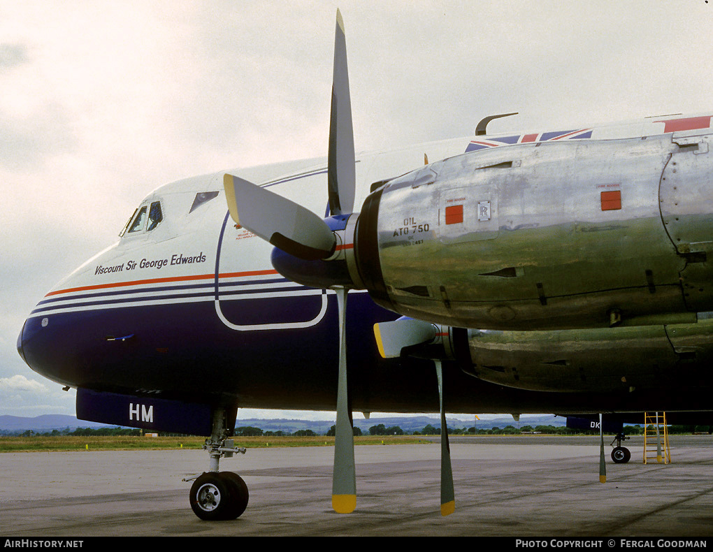 Aircraft Photo of G-AOHM | Vickers 802 Viscount | British Air Ferries - BAF | AirHistory.net #77112