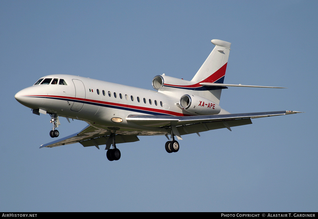Aircraft Photo of XA-APE | Dassault Falcon 900B | AirHistory.net #77362