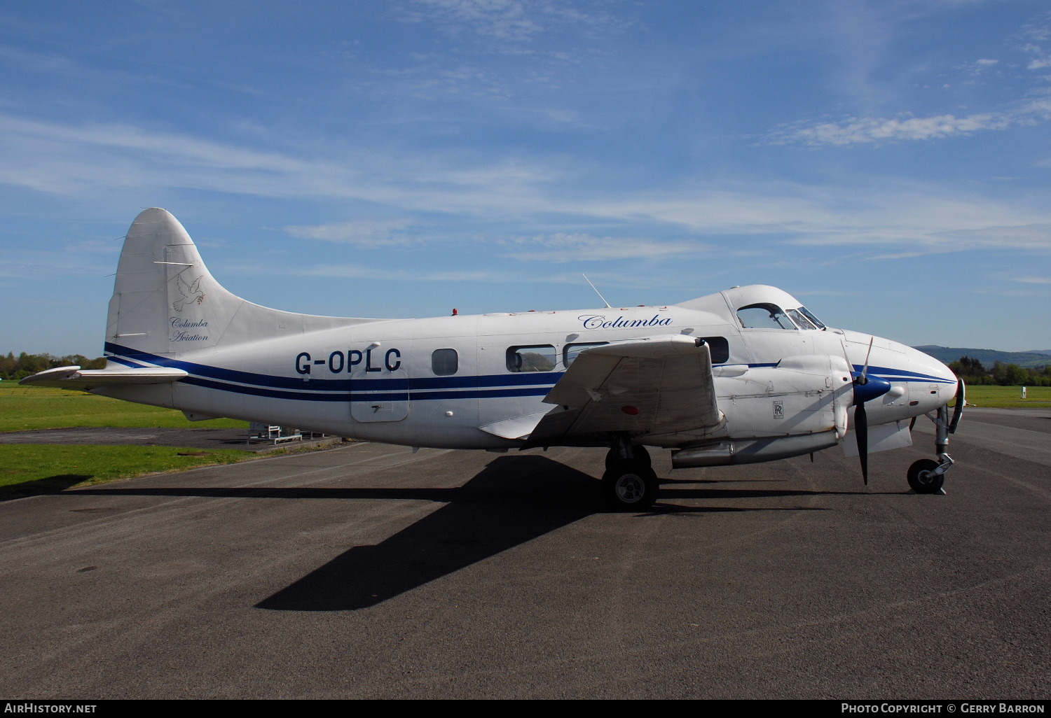 Aircraft Photo of G-OPLC | De Havilland D.H. 104 Dove 8 | Columba Aviation | AirHistory.net #77455