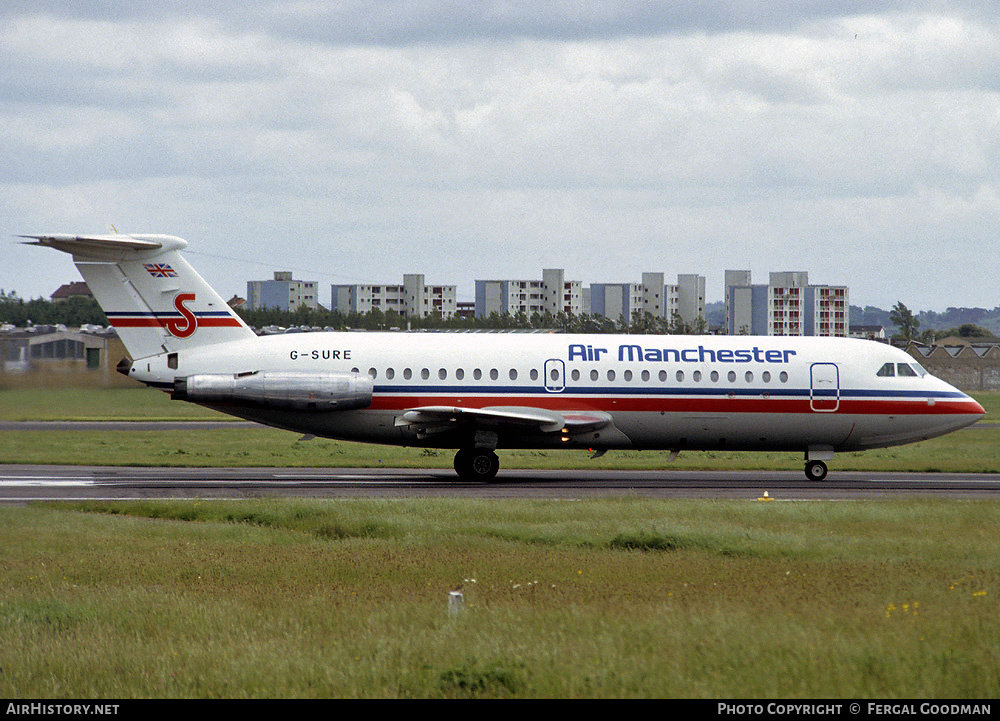 Aircraft Photo of G-SURE | BAC 111-416EK One-Eleven | Air Manchester | AirHistory.net #77898