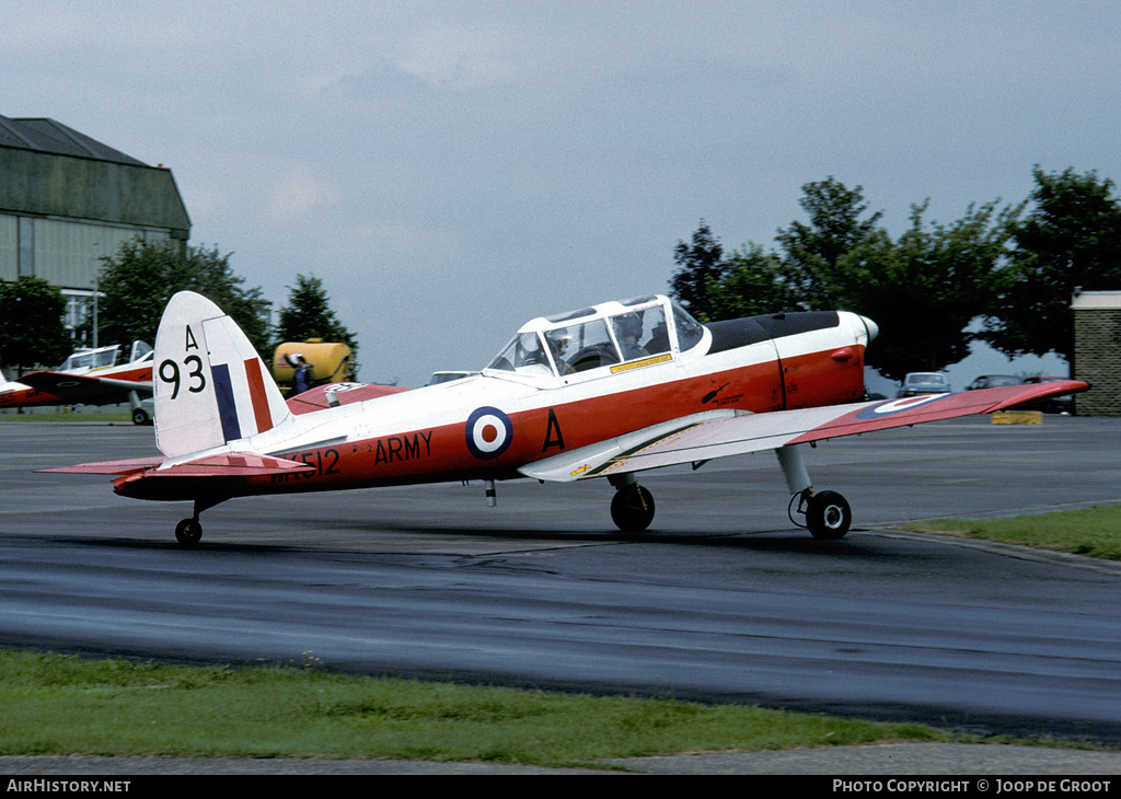 Aircraft Photo of WK512 | De Havilland DHC-1 Chipmunk T10 | UK - Army | AirHistory.net #79158