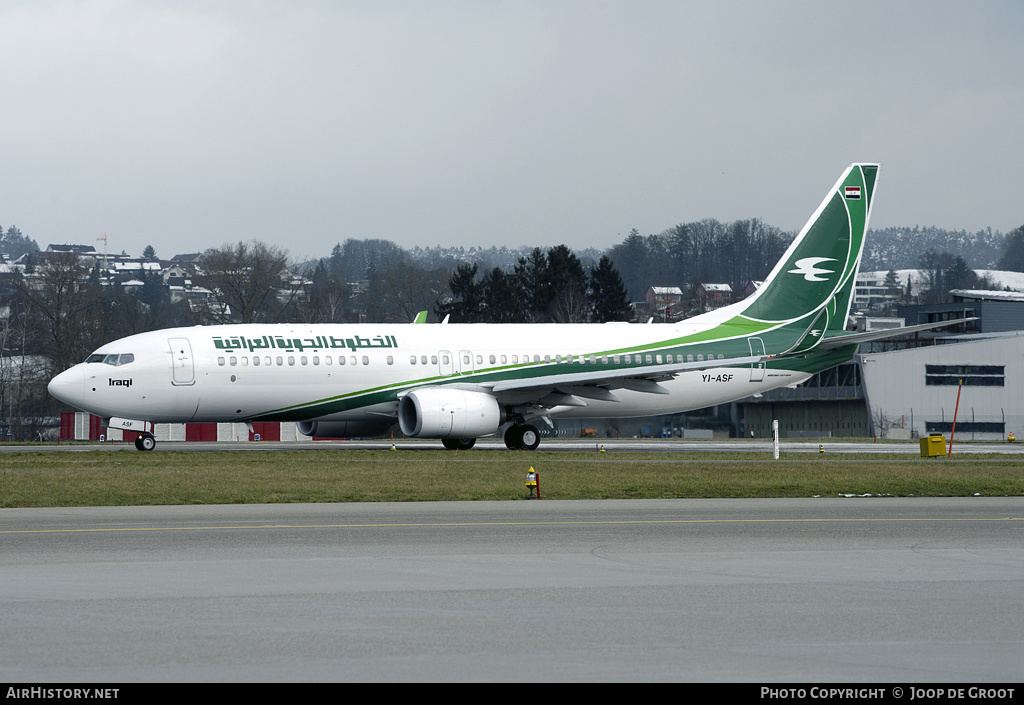 Aircraft Photo of YI-ASF | Boeing 737-81Z | Iraqi Airways | AirHistory.net #79228
