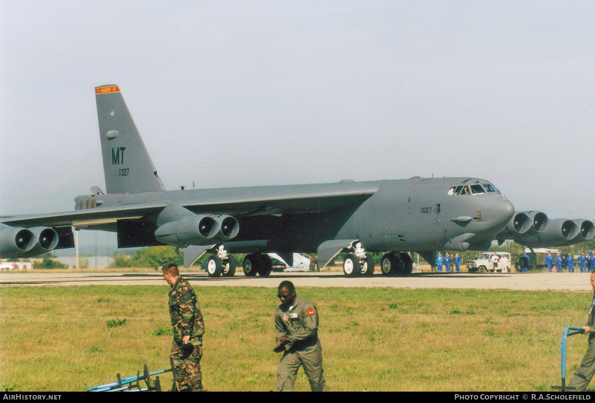 Aircraft Photo of 61-0027 / AF61-027 | Boeing B-52H Stratofortress | USA - Air Force | AirHistory.net #79923