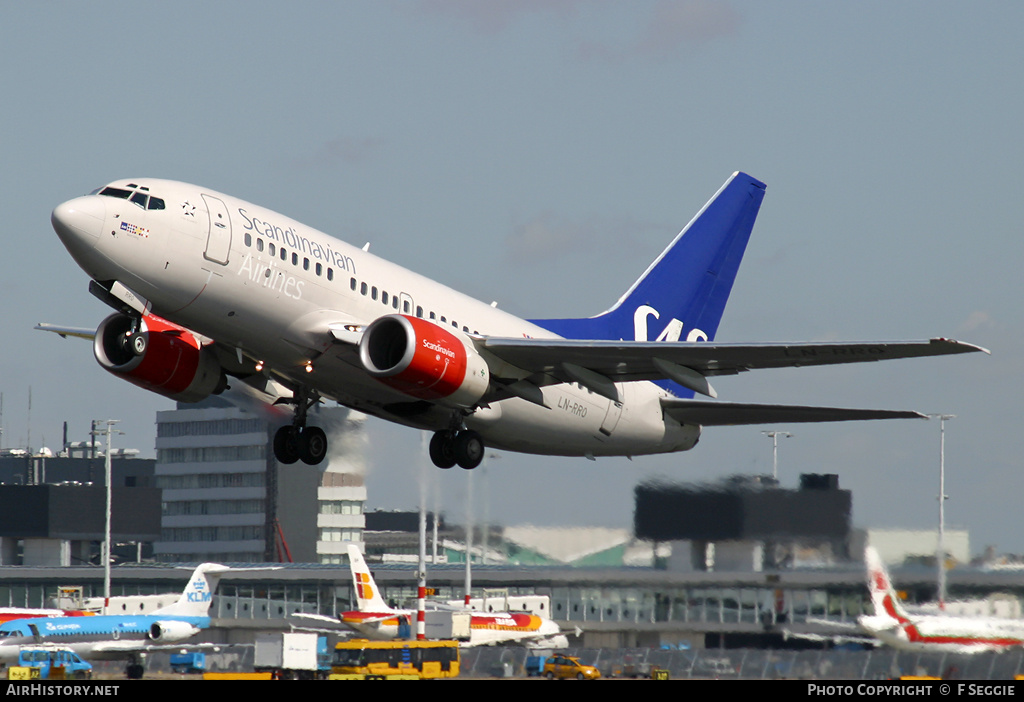 Aircraft Photo of LN-RRO | Boeing 737-683 | Scandinavian Airlines - SAS | AirHistory.net #79964