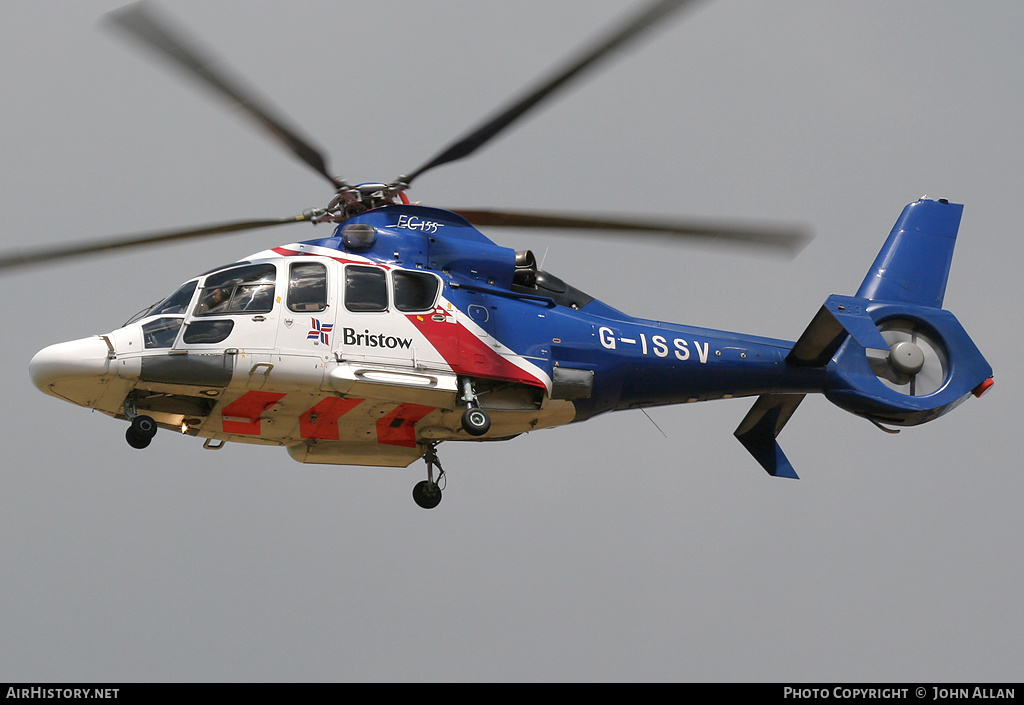 Aircraft Photo of G-ISSV | Eurocopter EC-155B-1 | Bristow Helicopters | AirHistory.net #80648