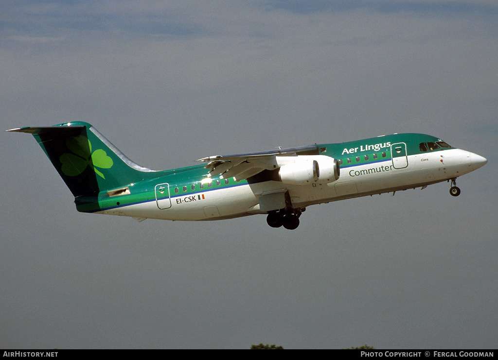 Aircraft Photo of EI-CSK | British Aerospace BAe-146-200A | Aer Lingus Commuter | AirHistory.net #80841