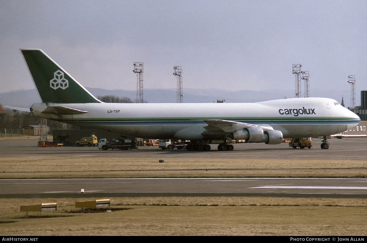Aircraft Photo of LX-TAP | Boeing 747-2S4F/SCD | Cargolux | AirHistory.net #80933
