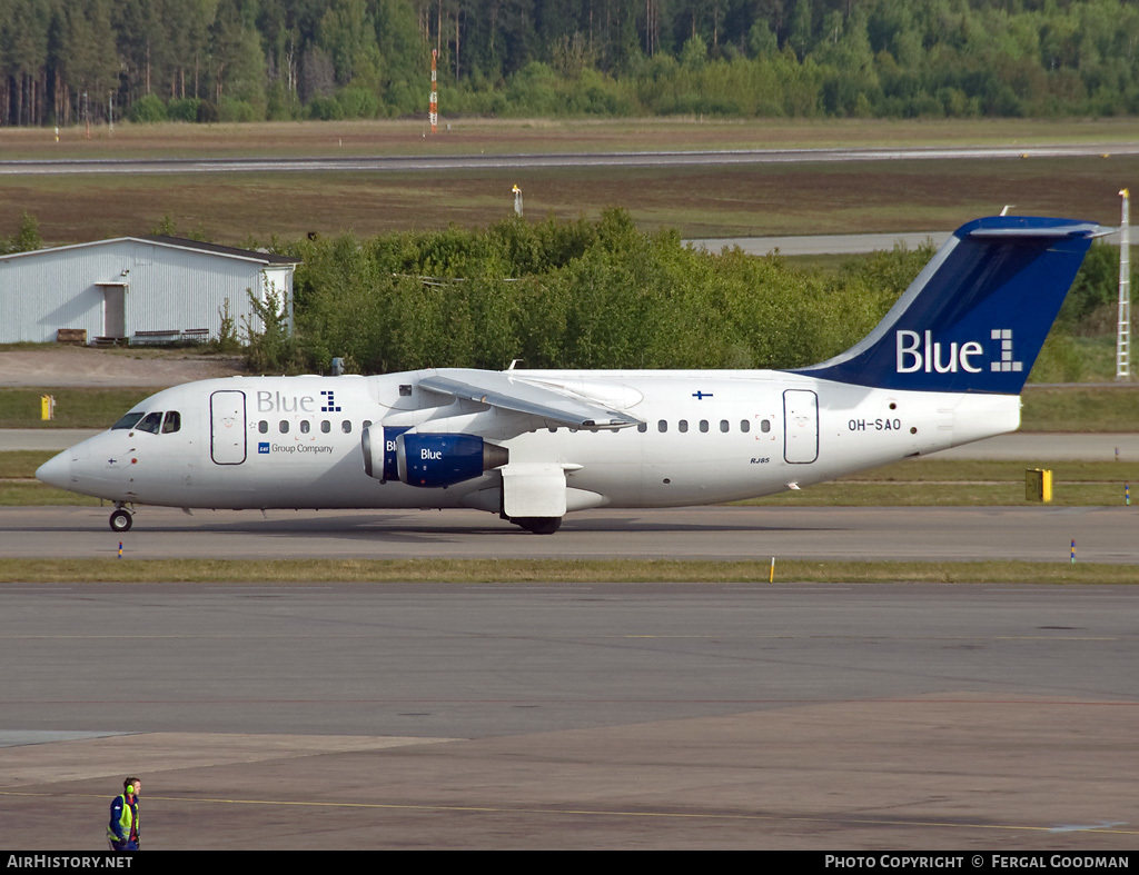 Aircraft Photo of OH-SAO | BAE Systems Avro 146-RJ85 | Blue1 | AirHistory.net #81049
