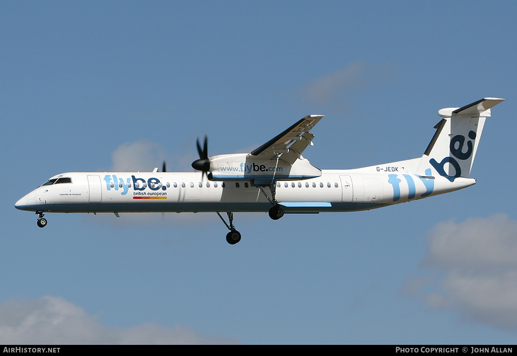 Aircraft Photo of G-JEDK | Bombardier DHC-8-402 | Flybe - British European | AirHistory.net #81260