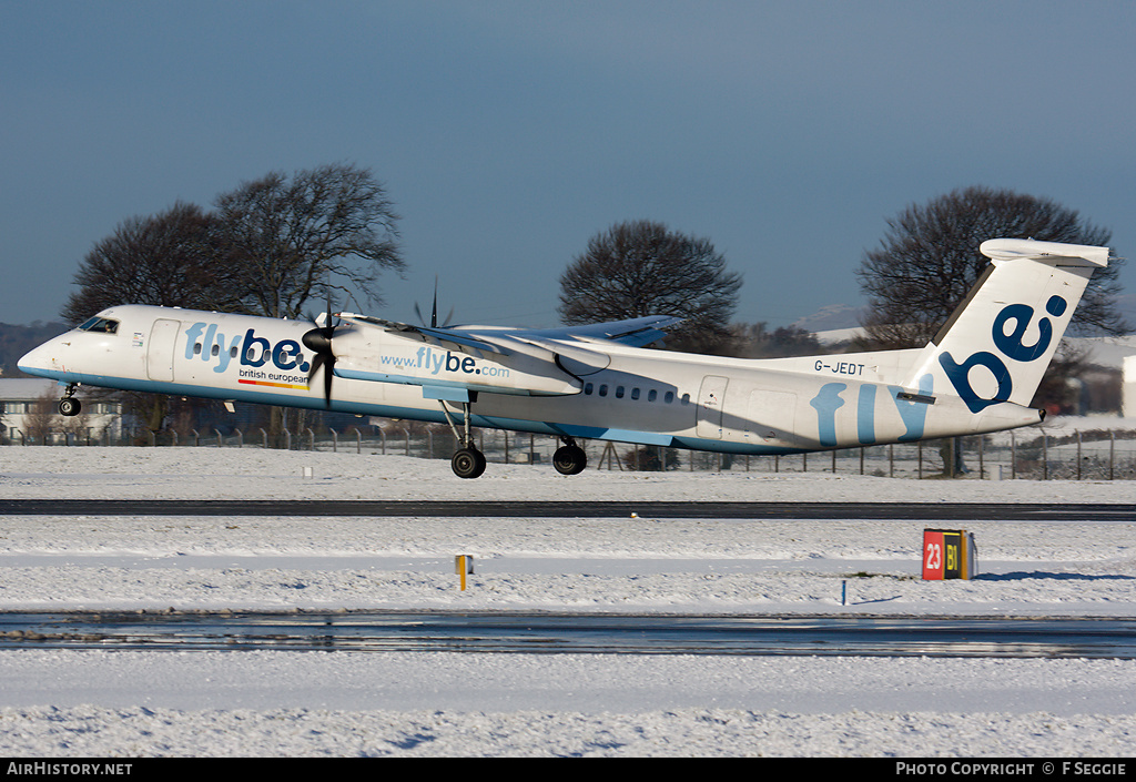 Aircraft Photo of G-JEDT | Bombardier DHC-8-402 | Flybe - British European | AirHistory.net #81598