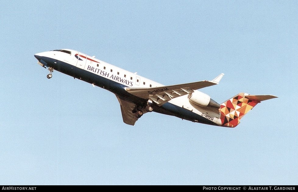 Aircraft Photo of G-MSKM | Bombardier CRJ-200LR (CL-600-2B19) | British Airways | AirHistory.net #81715