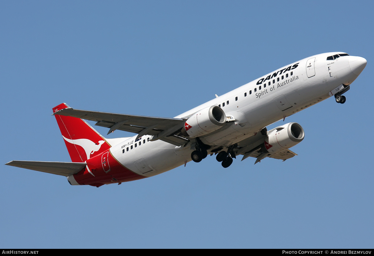 Aircraft Photo of VH-TJZ | Boeing 737-476 | Qantas | AirHistory.net