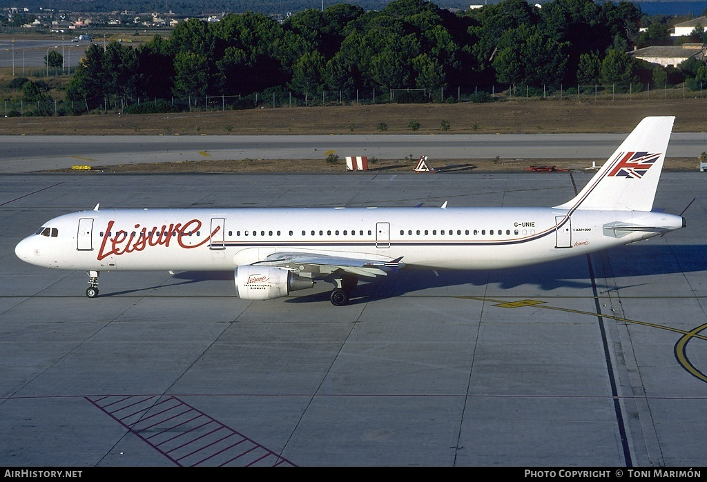 Aircraft Photo of G-UNIE | Airbus A321-211 | Leisure International Airways | AirHistory.net #83597