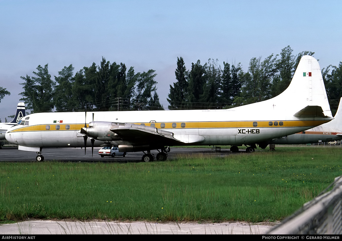 Aircraft Photo of XC-HEB | Lockheed L-188A(PF) Electra | AirHistory.net #83853