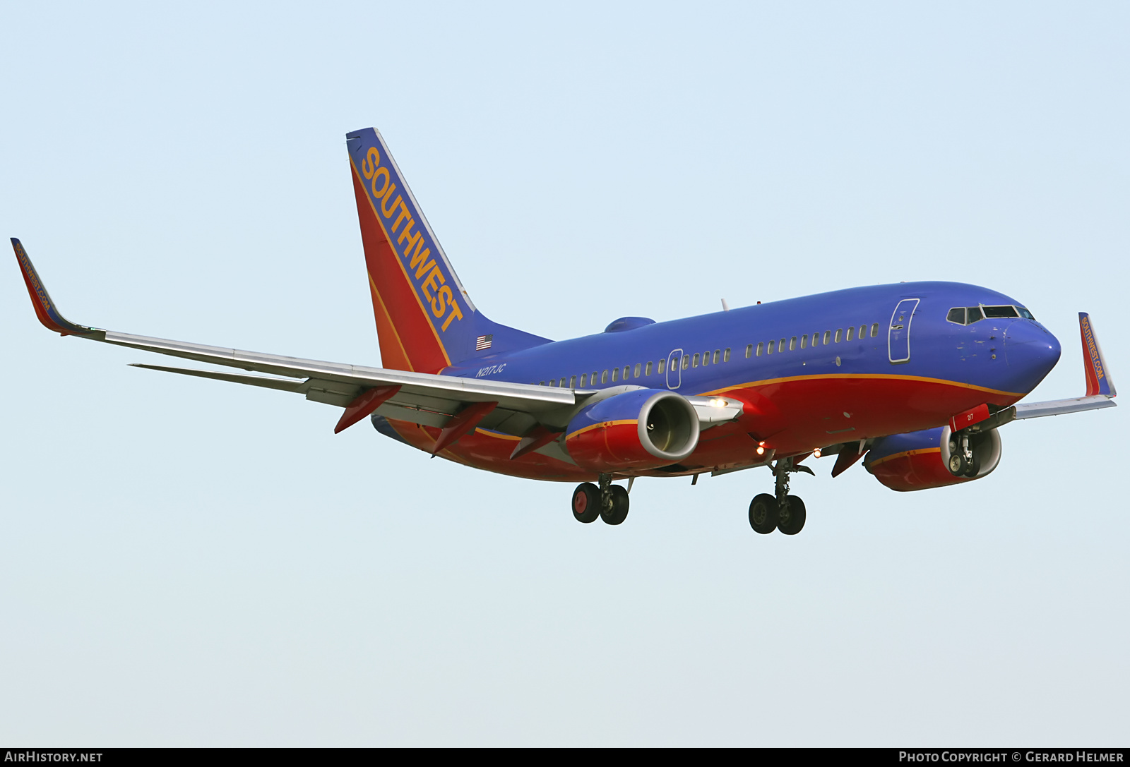 Aircraft Photo of N217JC | Boeing 737-7H4 | Southwest Airlines | AirHistory.net #84502
