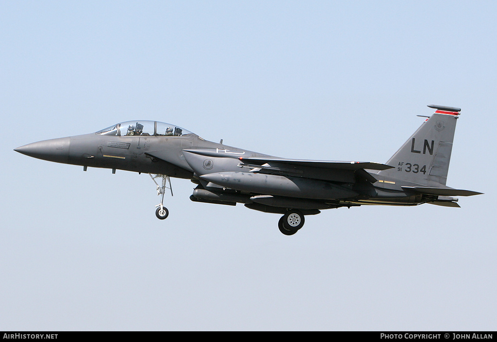 Aircraft Photo of 91-0334 / AF91-334 | McDonnell Douglas F-15E Strike Eagle | USA - Air Force | AirHistory.net #84545